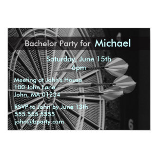 Darts Bachelor Party Invitation Cards