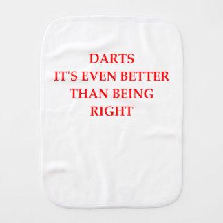 DARTS BURP CLOTH