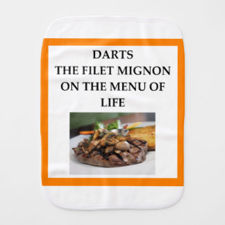 darts burp cloth