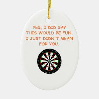 darts ceramic ornament