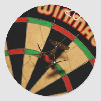 Darts Classic Round Sticker