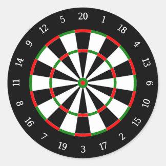 Darts Classic Round Sticker