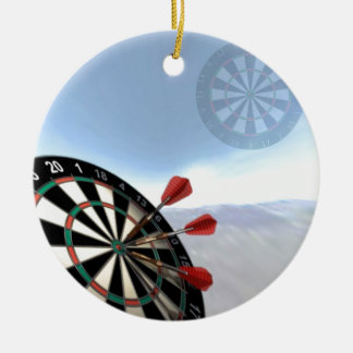 Darts Design Ceramic Ornament