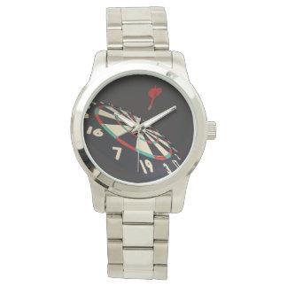 Darts Destination Bullseye Lge Unisex Silver Watch