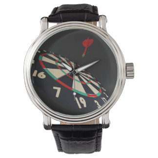Darts, Destination Bullseye, Mens Leather Watch