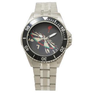 Darts, Destination Bullseye, Mens S Steel Watch
