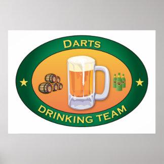 Darts Drinking Team Poster