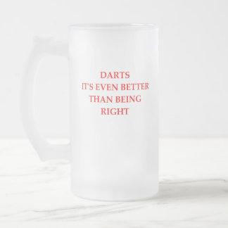 DARTS FROSTED GLASS BEER MUG