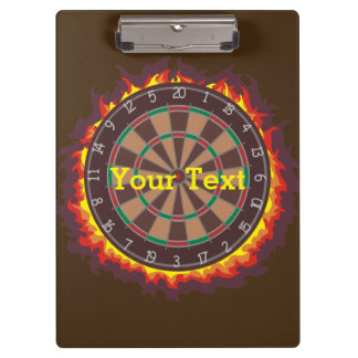Darts Game Personalized Clipboard