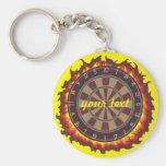 Darts Game Personalized Basic Round Button Keychain