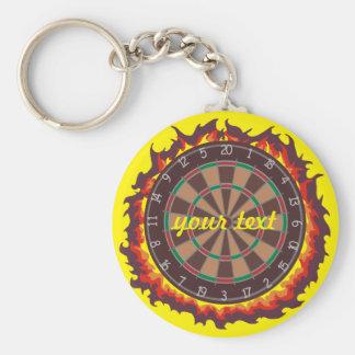 Darts Game Personalized Keychain