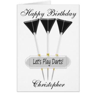 Darts Just Add Name Birthday Card