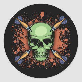 Darts Pirate Classic Round Sticker