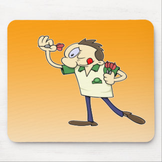 Darts player mouse pad