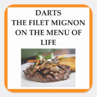 darts square sticker