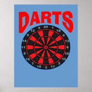 Darts Target Poster