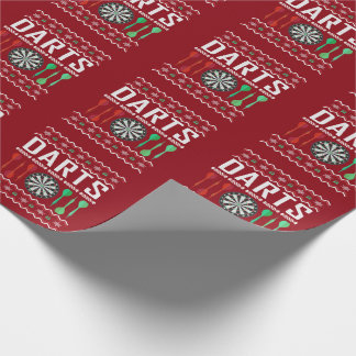 Darts Ugly Christmas Sweater Wrapping Paper