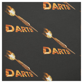Darts With Golden Dart In Flames With Stylish Text Fabric