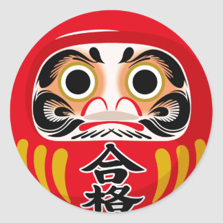 Daruma Doll Classic Round Sticker