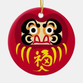 Daruma Round Ornament II