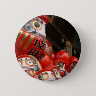 Daruma San Japanese Good Luck Dolls 2 Inch Round Button