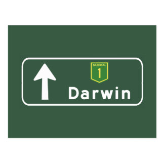 Darwin, Australia Road Sign Postcard