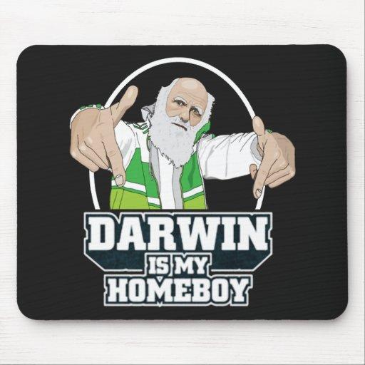 Darwin est mon Homeboy (polychrome) Tapis De Souris