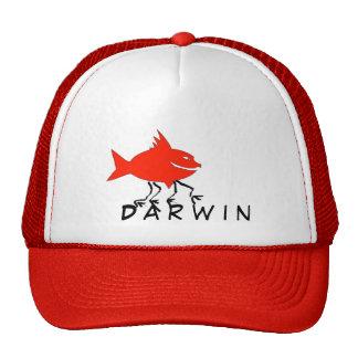 Darwin fish trucker hat