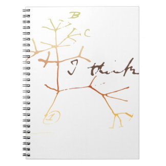 Darwin, I think tree of life Spiral Notebook