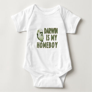 Darwin is my homeboy baby bodysuit
