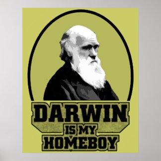 Darwin Is My Homeboy Print