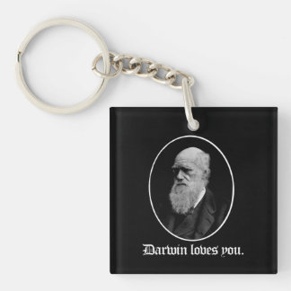 Darwin loves you - Team Evolution - - Pro-Science  Single-Sided Square Acrylic Keychain