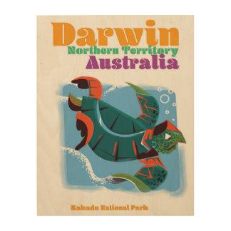 Darwin, Northern Territory Australia travel poster Wood Print