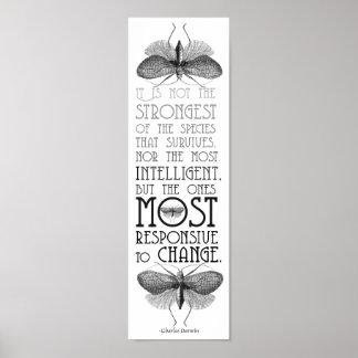 Darwin Quote Evolution Poster