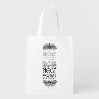 Darwin Quote Reusable Tote Bag