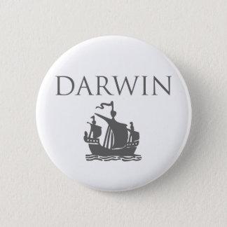 Darwin & Ship 2 Inch Round Button