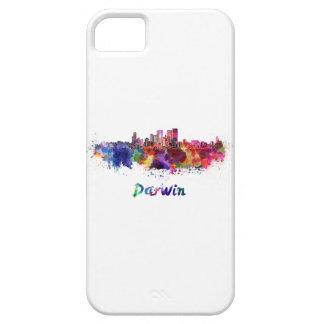 Darwin skyline in watercolor iPhone 5 cover