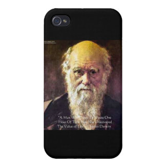 "Darwin ""Value Of Life"" Wisdom Quote Gifts & Cards iPhone 4/4S Cases"