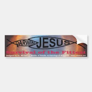 Darwin vs. Jesus bumper sticker Car Bumper Sticker