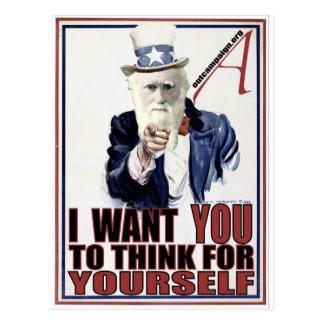 Darwin Wants You Postcard
