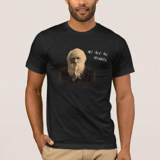 Darwin we are all monkeys t shirt