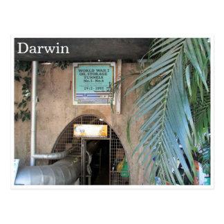 darwin ww2 oil tunnels postcard