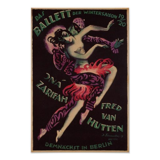 Das Ballett (The Ballet), Josef Fenneker Poster