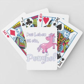 das leben ist ein ponyhof bicycle playing cards