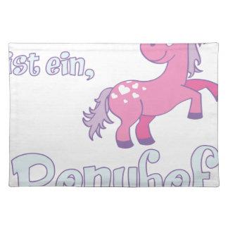 das leben ist ein ponyhof placemat