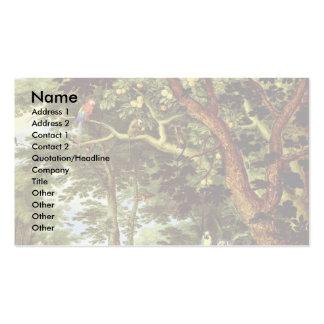 Das Paradies By Jan Brueghel The Elder Best Quali Business Card Template