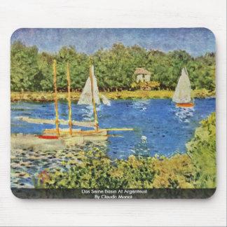 Das Seine Basin At Argenteuil By Claude Monet Mouse Pad