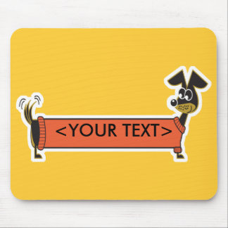 Daschund Dog Customizable, <YOUR TEXT> Mouse Pad