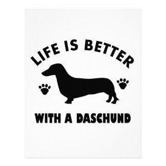 daschund dog design personalized letterhead