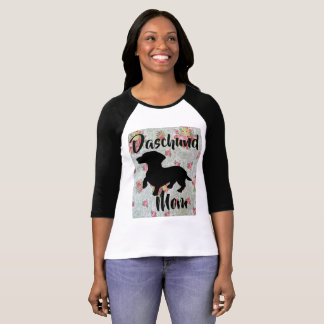 Daschund Mom Baseball shirt